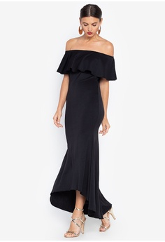 4445f90e3ce Ashley Collection black Off Shoulder Maxi Dress B445DAA0B47925GS 1