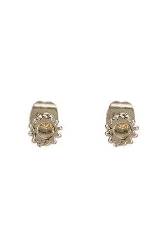 Pieces gold Tyska Stud Earrings 89C18ACBC49A45GS_1