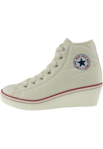 Maxstar Maxstar Women's N7H Zipper Canvas Low Wedge Heel Sneakers US Women Size MA168SH32CBBHK_1