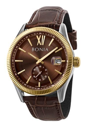 BONIA brown Bonia B10365-1343 - Jam Tangan Pria - Brown Gold 8B6A1AC3B1FB19GS_1