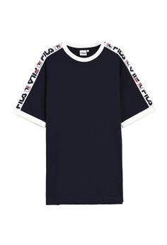 70572bbce Fila navy Korea Collection Side Taped T-shirt 42DA4AAF1FE20EGS_1