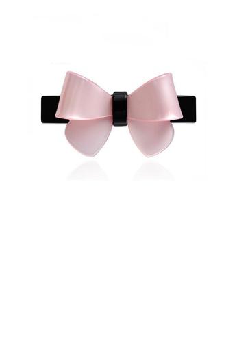Glamorousky silver Fashion Simple Pink Ribbon Large Hair Slide DAC65AC7C1EE3CGS_1