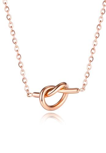 CELOVIS gold CELOVIS - True Love Knot Necklace in Rose Gold E58AFACB03E72CGS_1