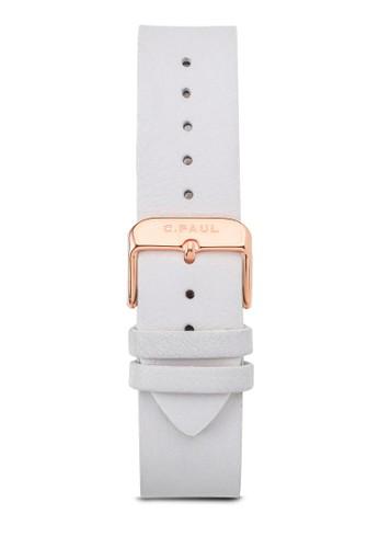 esprit 會員43mm 皮革錶帶, 錶類, 皮革錶帶