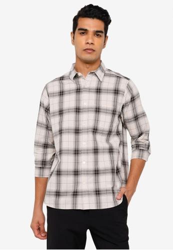 RAGEBLUE grey Half Sleeve Shirt A3347AA4BF840DGS_1