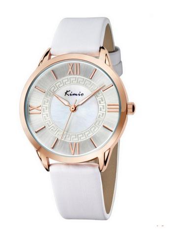 Eyki white Eyki Kimio KW528M Ladies Leather Watch (RoseGold White) EY078AC46RLPMY_1