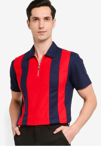 ZALORA BASICS 多色 Colourblock Polo Shirt 80511AA818AC94GS_1
