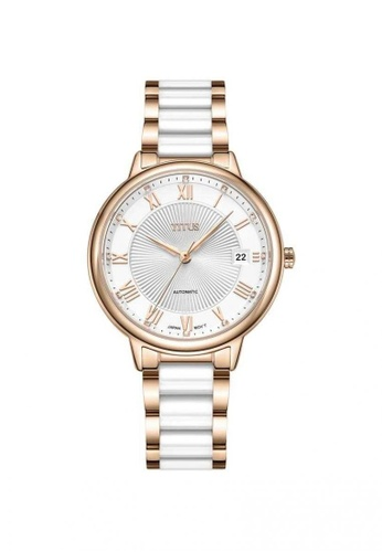 Solvil et Titus silver and gold Exquisite Women's 3 Hands Date Automatic Watch in Silver White Dial and Two-Tone Stainless Steel Bracelet EEA03ACAC98292GS_1