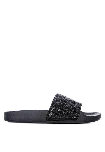 Skechers black Pop Ups - Summer Rush Slides DFE13SH4148BCEGS_1