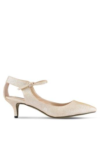 Nose gold Evening Glitter Heel Pumps NO327SH0S6UWMY_1
