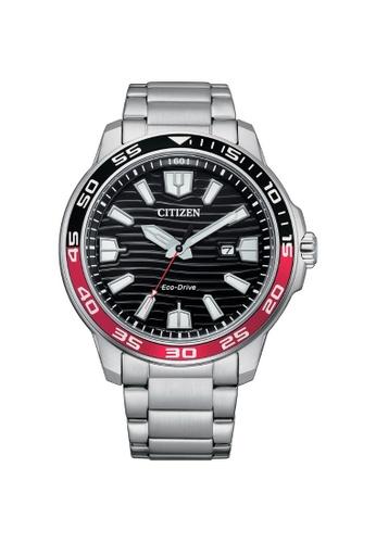 Citizen silver CITIZEN ECO-DRIVE AW1527-86E SOLAR BLACK DIAL STAINLESS STEEL MEN'S WATCH 10D93ACA9B6A56GS_1