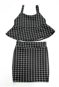 Sandra Peplum Top and Skirt Set