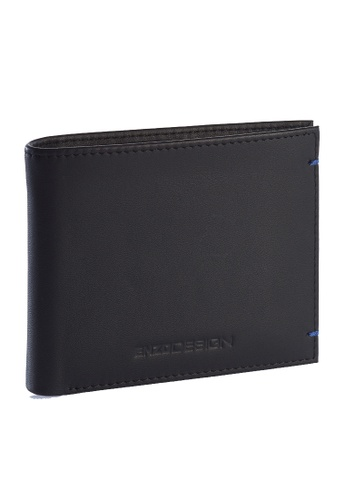 ENZODESIGN black and blue Ultra Soft Cow Leather Wallet With Removable Card Horder EN115AC79ZTGPH_1