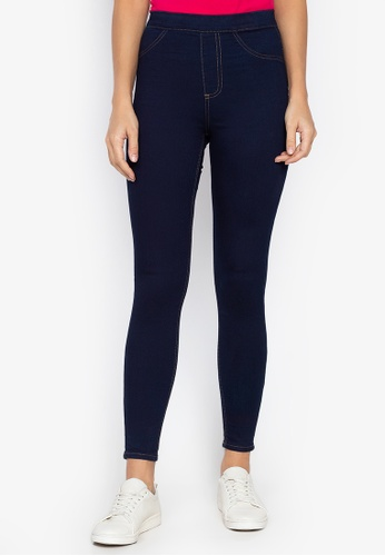 MARKS & SPENCER blue Cotton Rich Jeggings B881CAAA4EC32CGS_1