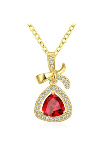 Tiaria yellow Tiaria Gold Plated Necklace Pendant Party KZCN080-A--K10 C107BAC4E39373GS_1