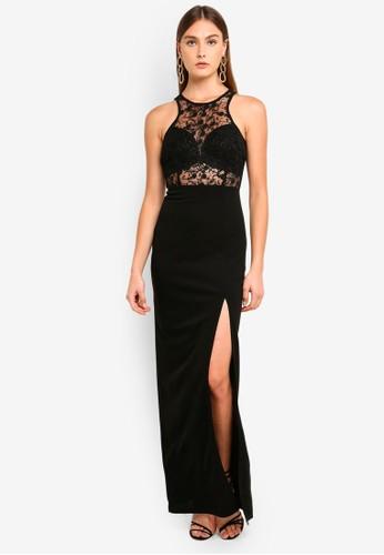 AX Paris black Lace Top Maxi Dress 63D05AA7036679GS_1