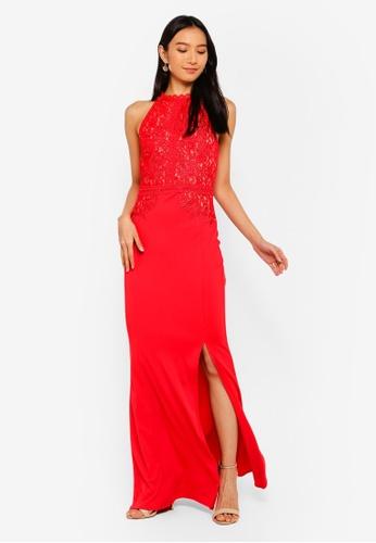 666c58d086 Shop Lipsy Artwork Fishtail Maxi Dress Online on ZALORA Philippines