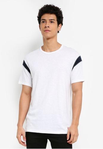 Abercrombie & Fitch white Varsity Short Sleeve T-Shirt 824CCAAF091D2DGS_1