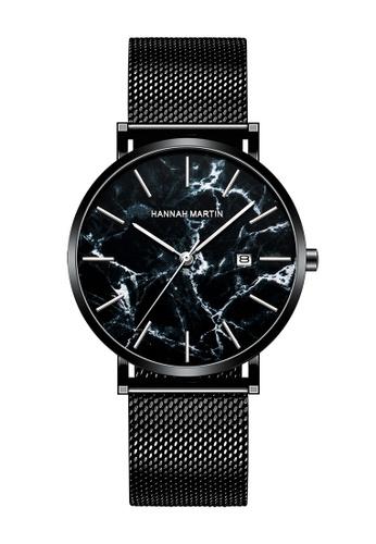 HANNAH MARTIN black Hannah Martin Marquina Black Men Quartz Watch 5330FAC77581B5GS_1