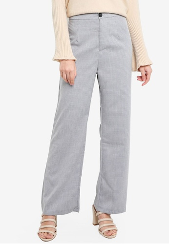BYN grey Lenin Cotton Bootcut Pants 2DDE0AAC6B0299GS_1