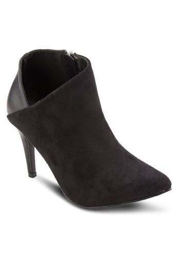 造型靴口暗紋高跟踝靴, esprit tw女鞋, 靴子