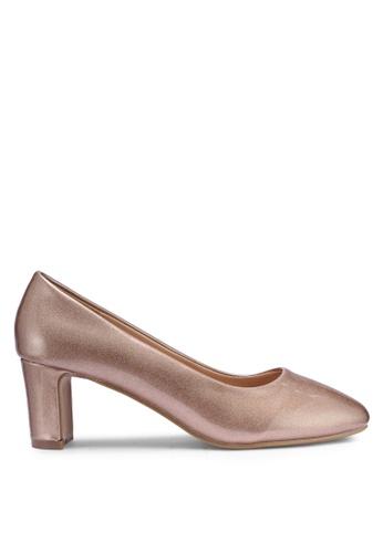f804b7086f3 Buy DMK Shimmer Block Heel Pumps Online on ZALORA Singapore