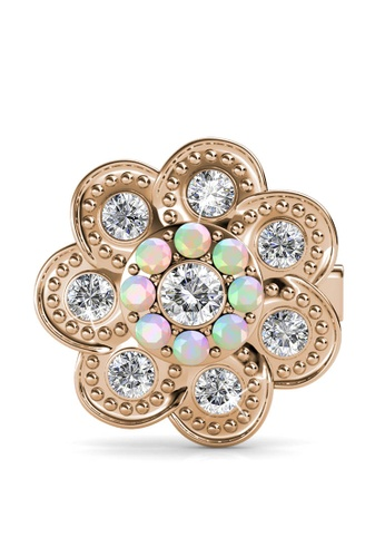 Her Jewellery gold Blossome Brooch - Made with premium grade crystals from Austria 67E0BACFB35587GS_1