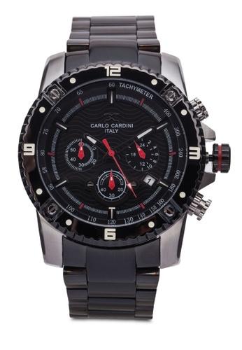 Carlo Cardini black Carlo Cardini Watch 4025G-SS-BLK-4 CA038AC03IYYMY_1