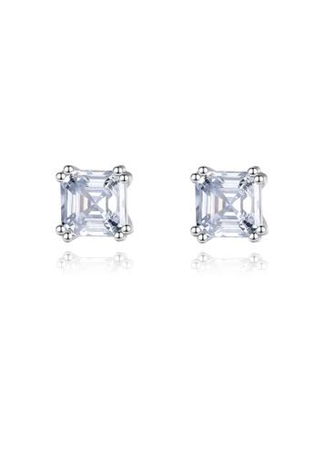 SUNRAIS silver High quality Silver S925 silver simple design earrings 3C0AAACAD6CBF3GS_1