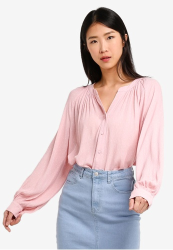 ZALORA BASICS multi Basic Notch Neck Blouse 8EEE2AA287B787GS_1