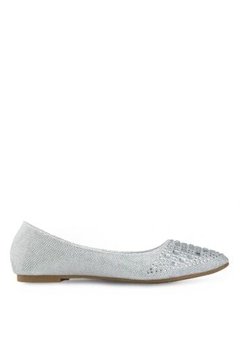 Le Sandee silver Stylish Flats LE906SH85UHYMY_1