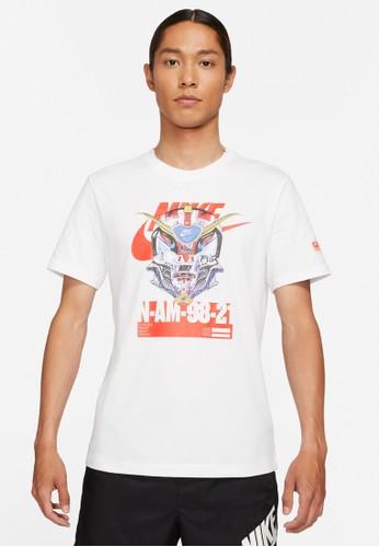 Nike white As M Nsw Tee Mech Air Mask 8D5C0AAB55017BGS_1
