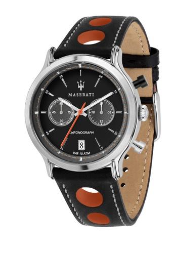 Maserati black Legend Quartz Watch R8851138003 Black Leather Strap 0994EAC81DB29EGS_1