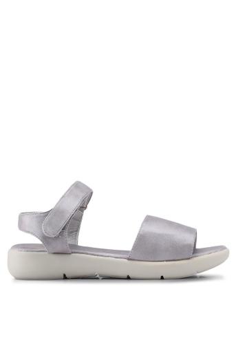 Bata 銀色 經典繞帶涼鞋 CD6BBSHC8C02E8GS_1