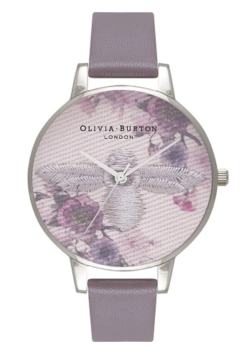 Olivia Burton silver EMBROIDERED DIAL Silver 38 mm Women's Watch 81B44AC214FF11GS_1
