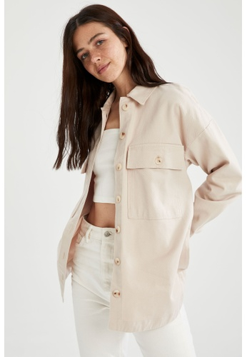 DeFacto brown Woman Woven Long Sleeve Tunic C5B6EAA543CC17GS_1