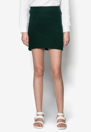 針織彈zalora 順豐性短裙, 服飾, 迷你裙