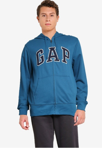 GAP blue Arch Hoodie E3BE6AA52FF720GS_1
