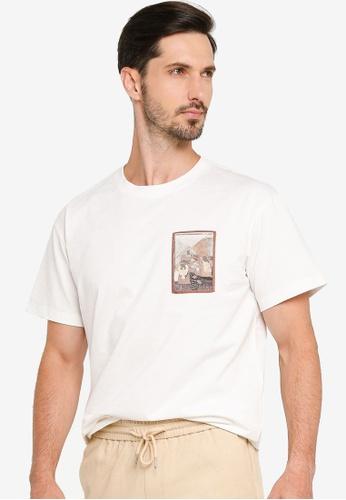 Urban Revivo 白色 Casual T-Shirt 51078AABC9D7B8GS_1