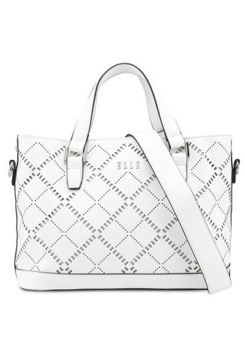 ELLE white Phoenix Shoulder Bag 294D8AC3D1844BGS_1