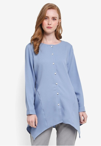 BYN blue Muslimah Blouse B8B94AADA44635GS_1