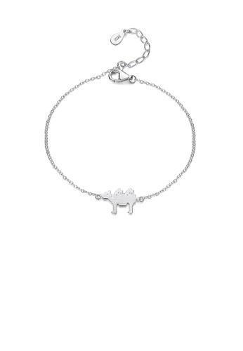 Glamorousky silver 925 Sterling Silver Simple Fashion Camel Bracelet 7260BAC0750BEDGS_1