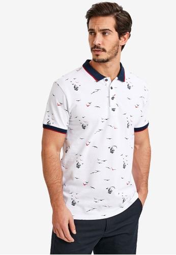 LC Waikiki white Printed Standard Polo Shirt 65595AA6E278B6GS_1