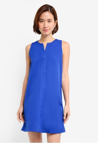 ZALORA BASICS blue A Line Dress 18B3DAA2D2A505GS_1