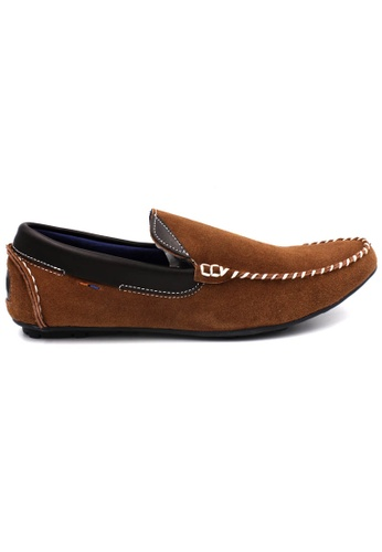 midzone brown SCORPION Suede Leather Slip On D19E6SHE8B07C0GS_1