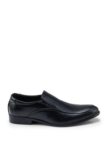 UniqTee black Formal Slip On Shoes 139BDSHA5D505FGS_1