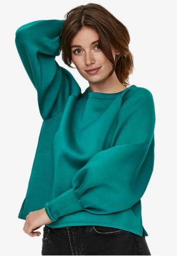 Vero Moda green Norah Pleat Sweater 942DFAA8462264GS_1