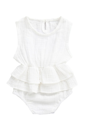 RAISING LITTLE white Kirsten Romper - White F3A37KA91491A9GS_1