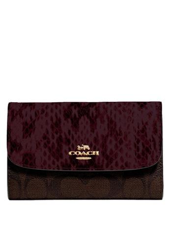 Coach black and brown Medium Envelope Wallet (cv) B57EDACD62E4A0GS_1