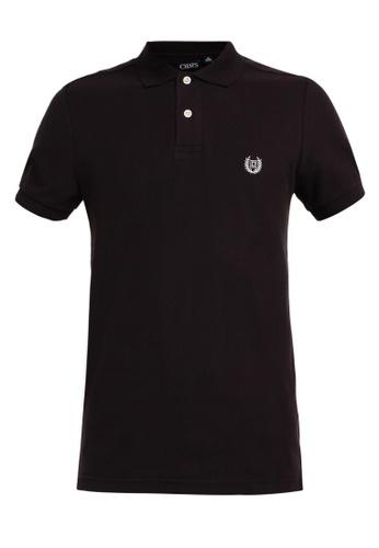 Chaps black Chaps Cotton Mesh Polo Shirt 80354AA6DE5DC2GS_1
